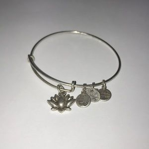 Alex & Ani Silver Lotus Bracelet